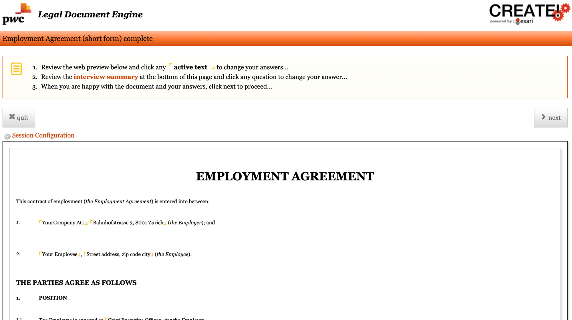 Summary-Page-Employment-Agreement